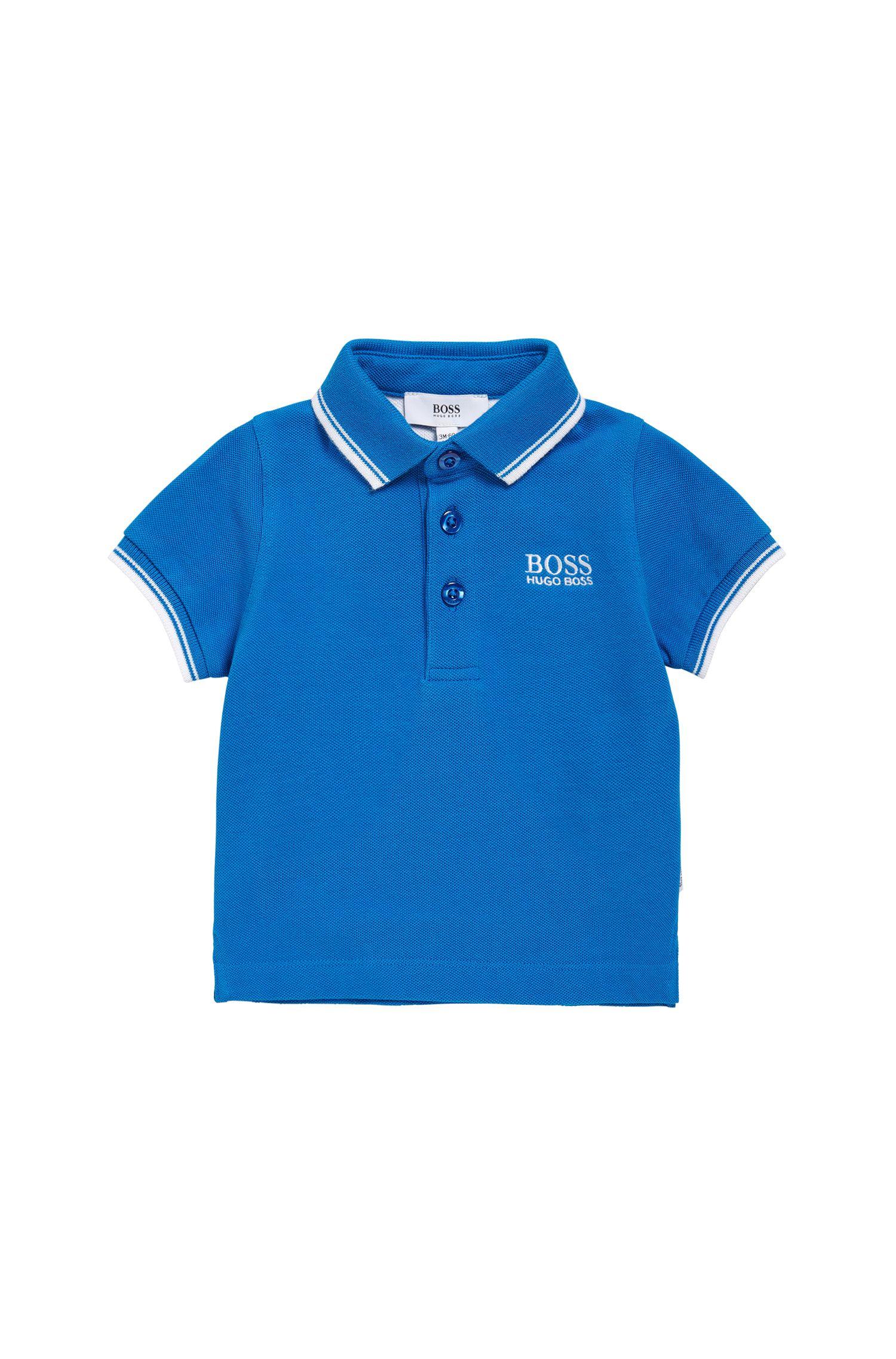 Polo pour enfant en coton, à manches courtes: «J05V40»