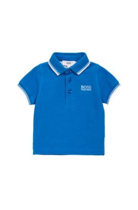 Kids' polo shirt in cotton with short sleeves: 'J05V40', Blue
