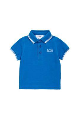 Polo pour enfant en coton, à manches courtes: «J05V40», Bleu