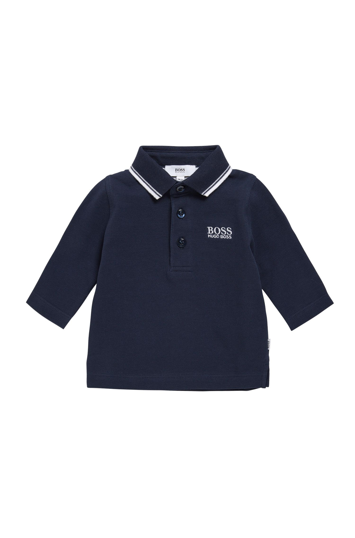 Kids' polo shirt in cotton with long sleeves: 'J05V48'
