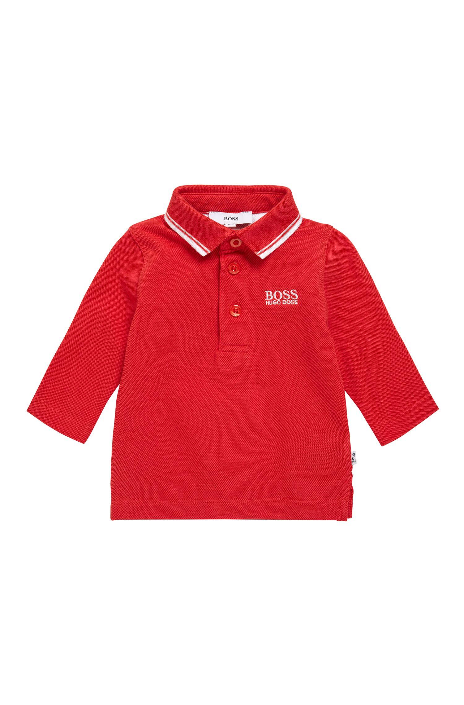 Kinderpoloshirt van katoen met lange mouwen: 'J05V48'