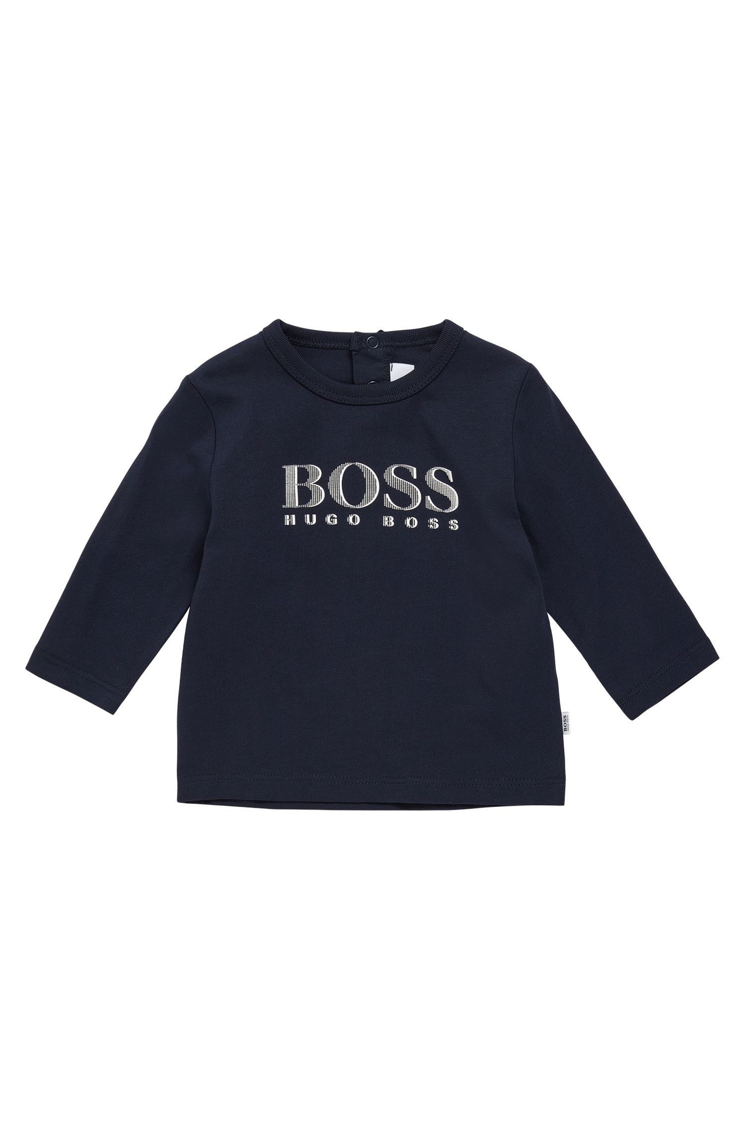 Kids' long-sleeved shirt in cotton with press-stud placket at the back: 'J05V61'