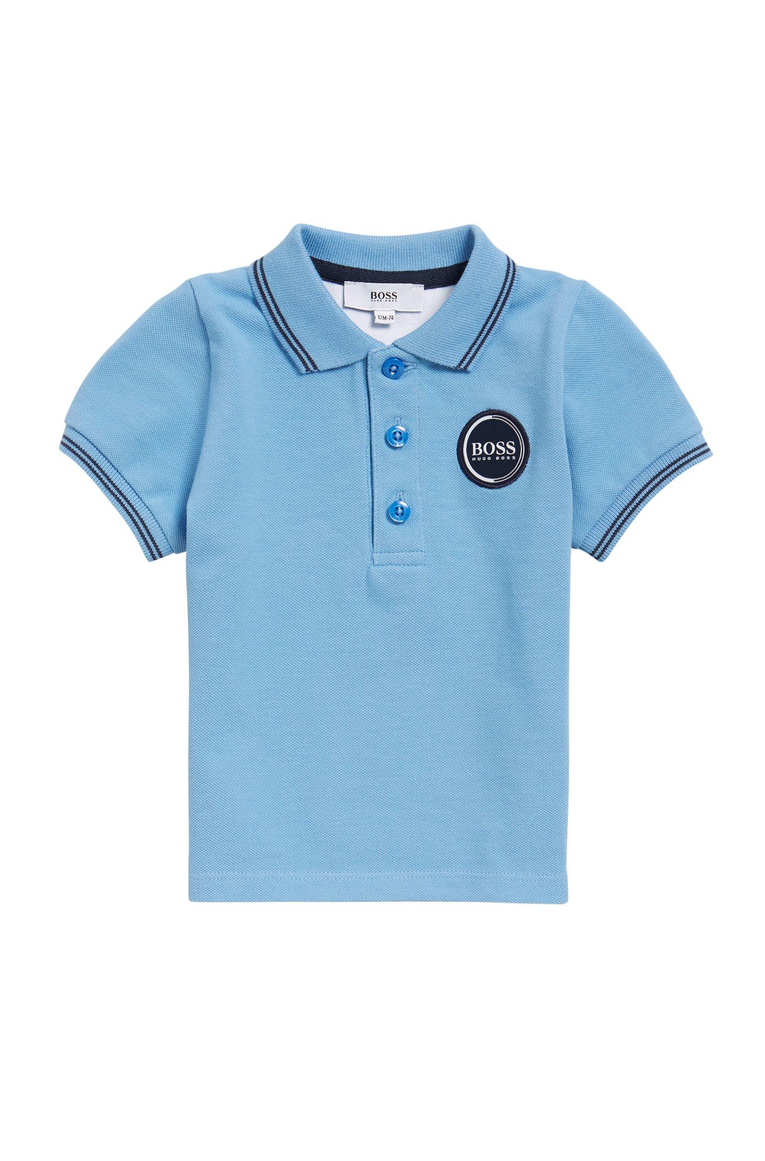 Kids-Poloshirt aus Baumwoll-Piqué mit Logo-Aufnäher
