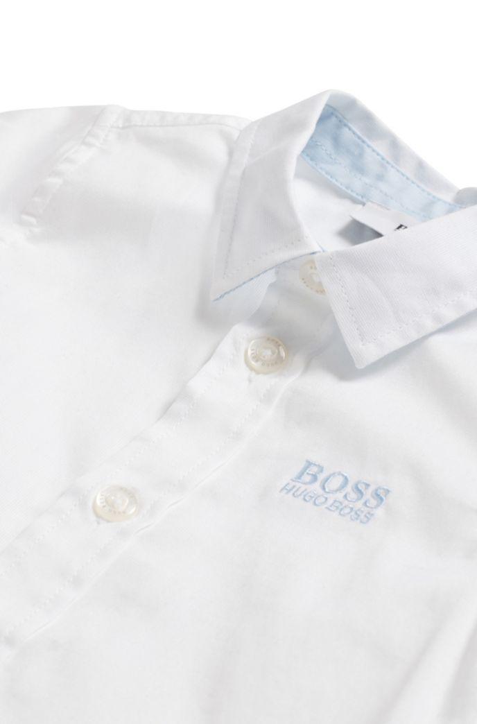 Chemise à manches courtes Regular Fit en pur coton pour enfant