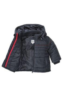 Gewatteerde kinderjas 'J06094' met afneembare capuchon, Donkerblauw
