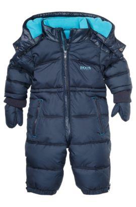 Skipak voor kinderen 'J06098' met capuchon, Donkerblauw