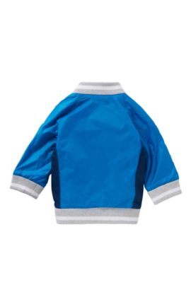 Newborns' jacket in college style: 'J06135', Turquoise