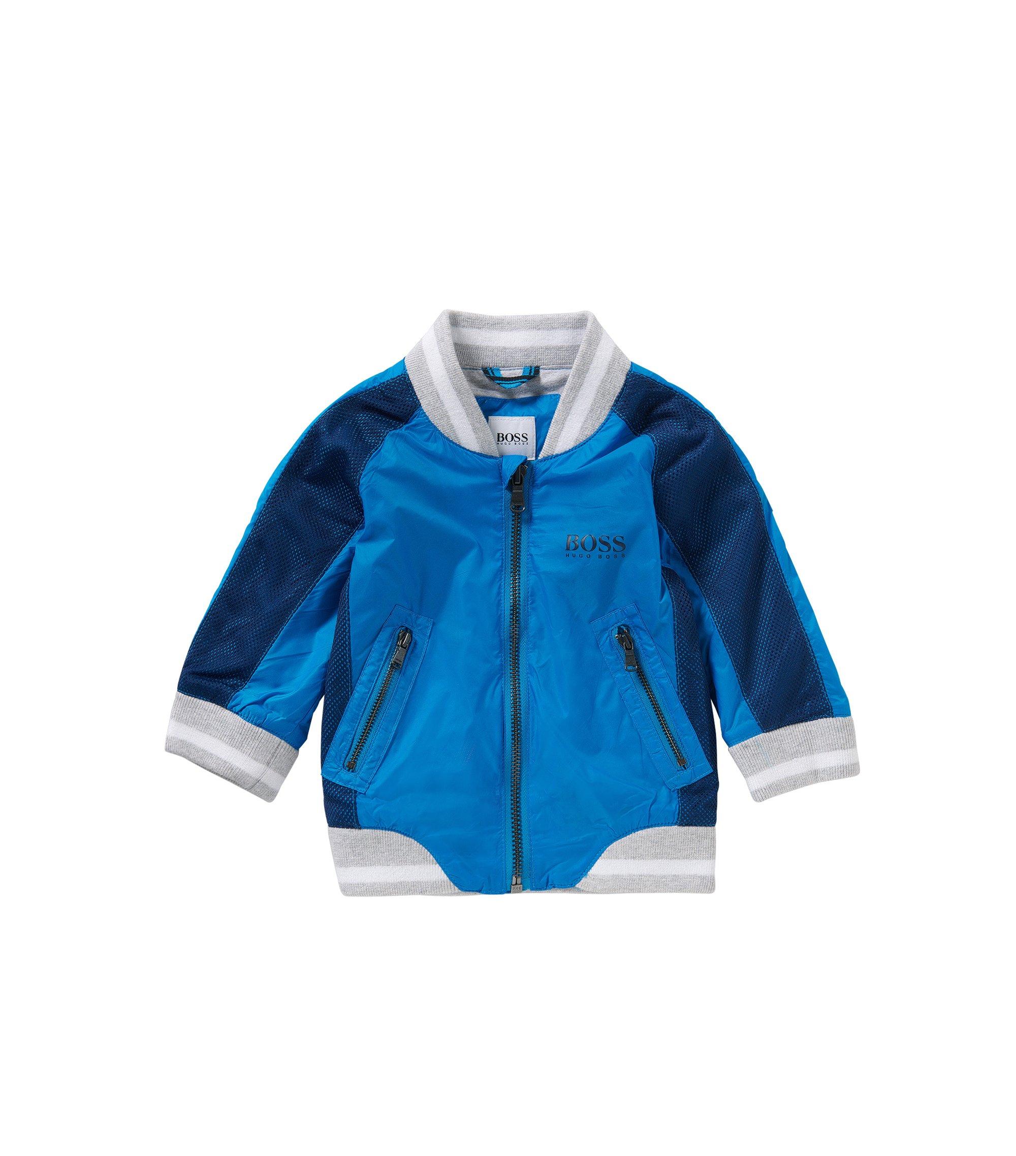 Blouson pour bébé de style universitaire: «J06135», Turquoise