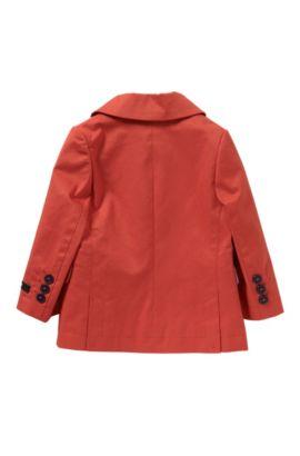 Unifarbenes Baby-Sakko aus Stretch-Baumwolle: 'J06137', Rot