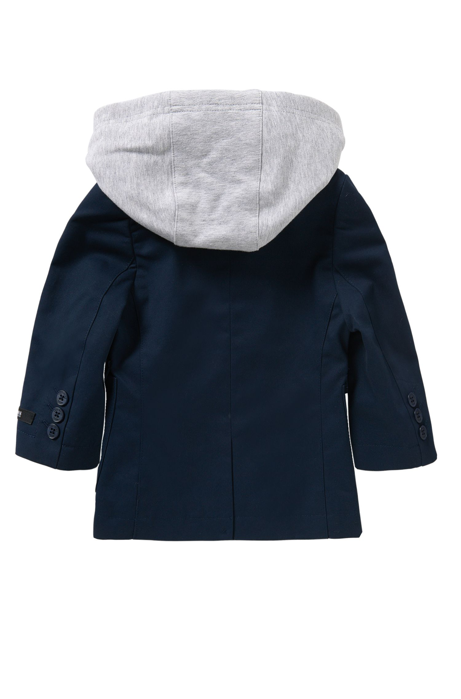 Newborns' jacket in cotton with a detachable insert: 'J06138'