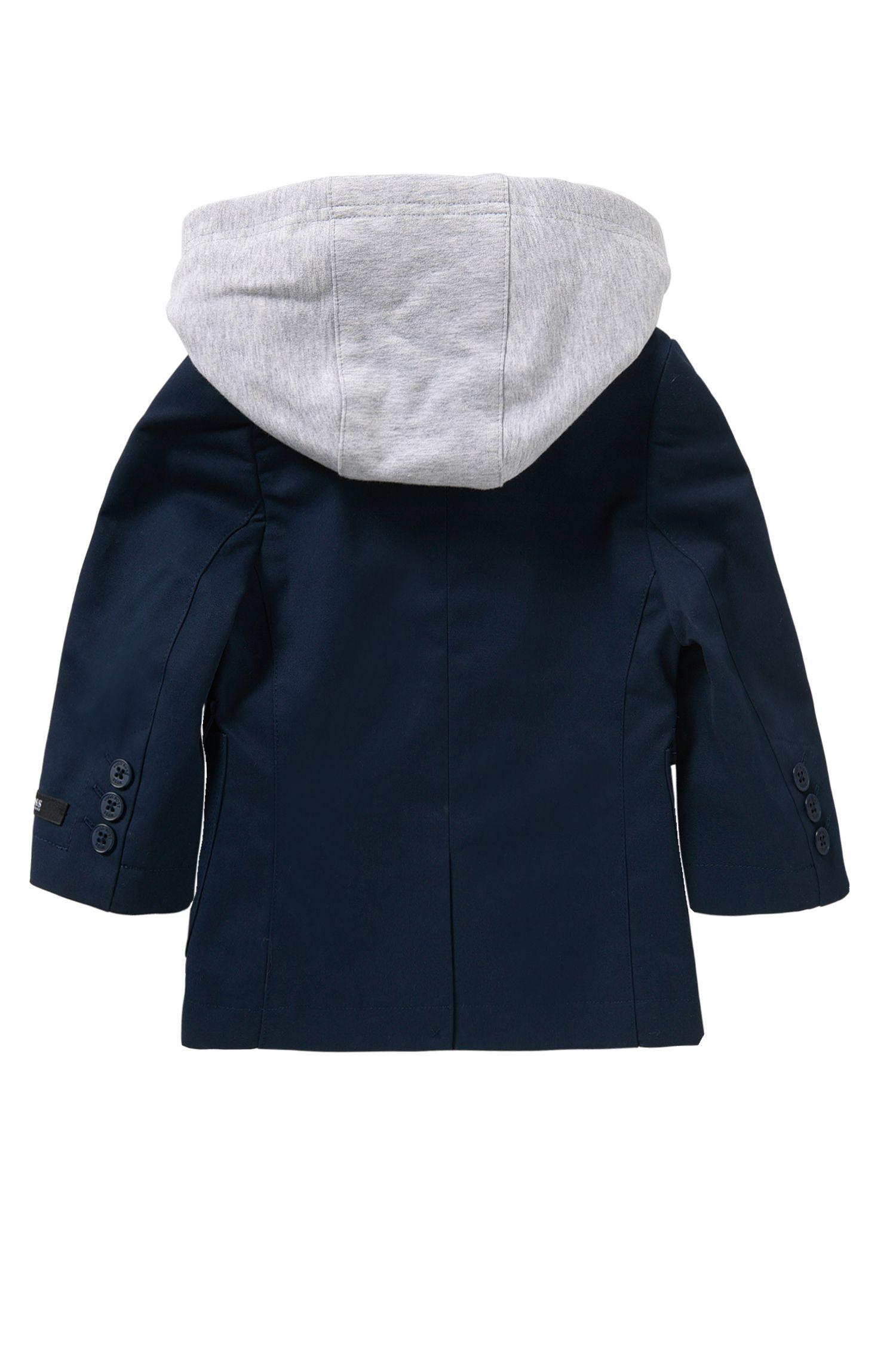 Chaqueta para bebé en algodón con aplique desmontable: 'J06138'