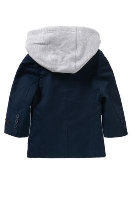 Veste de costume pour bébé en coton dotée d'un empiècement amovible: «J06138», Bleu foncé