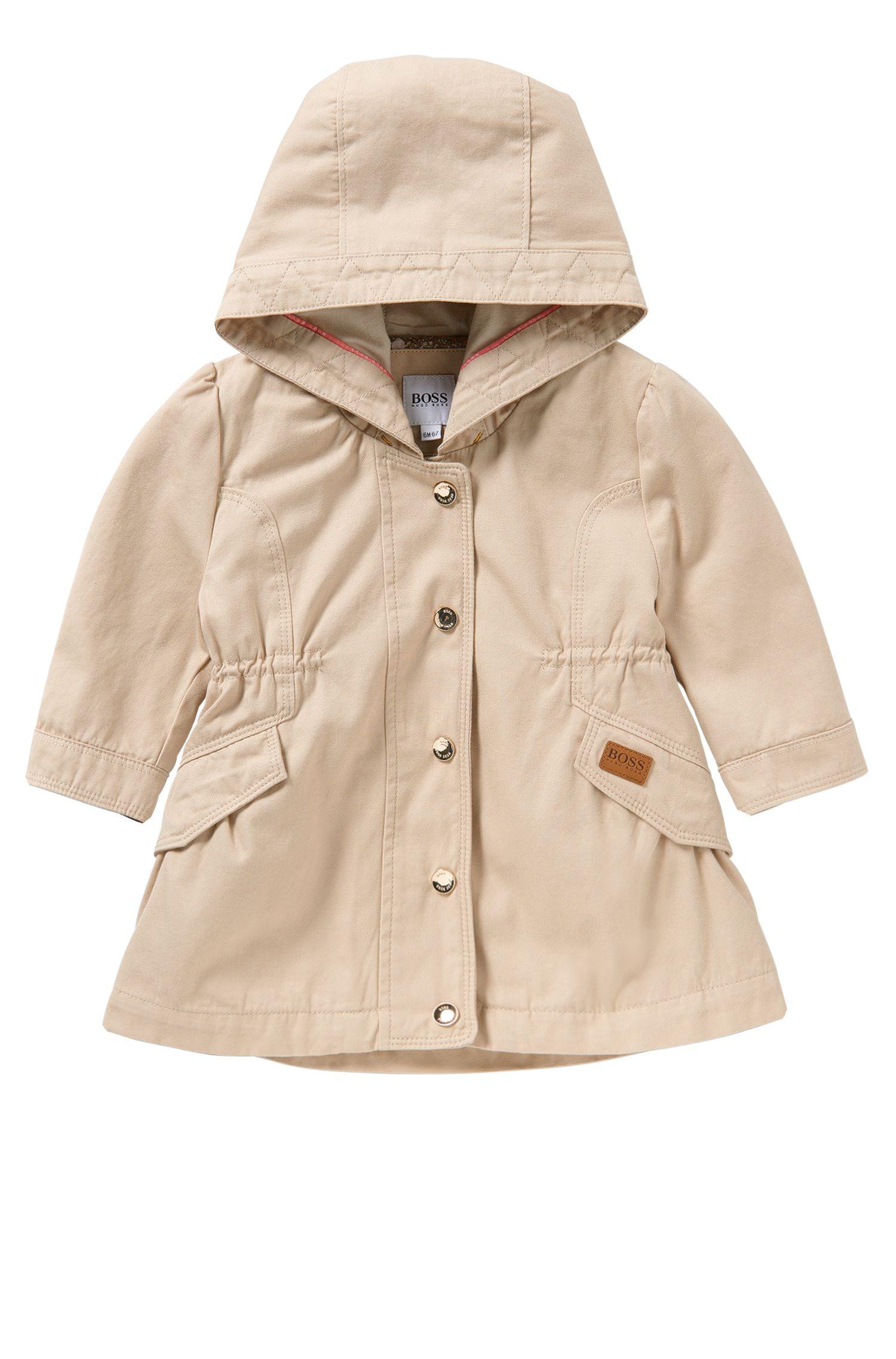 Baby-Jacke aus Stretch-Baumwolle mit Kapuze und Tunnelzug: 'J06140'