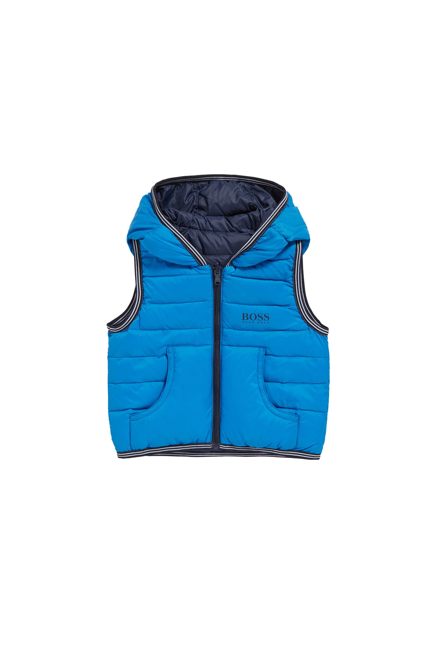 Kids' reversible down waistcoat in a material blend: 'J06147'
