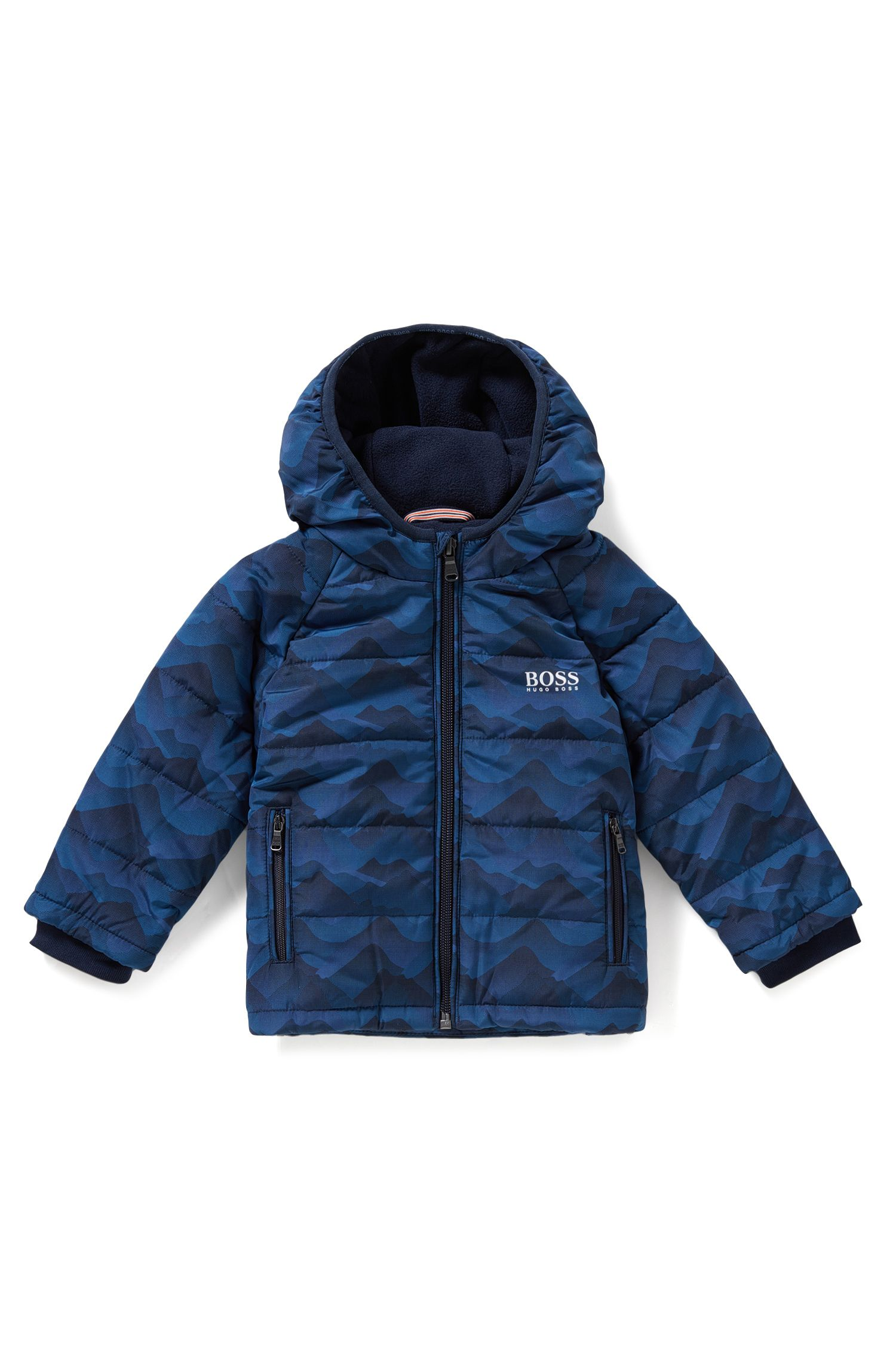 Wattierte Regular-Fit Kids-Jacke