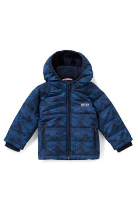 Kids' padded jacket in a regular fit, Dark Blue