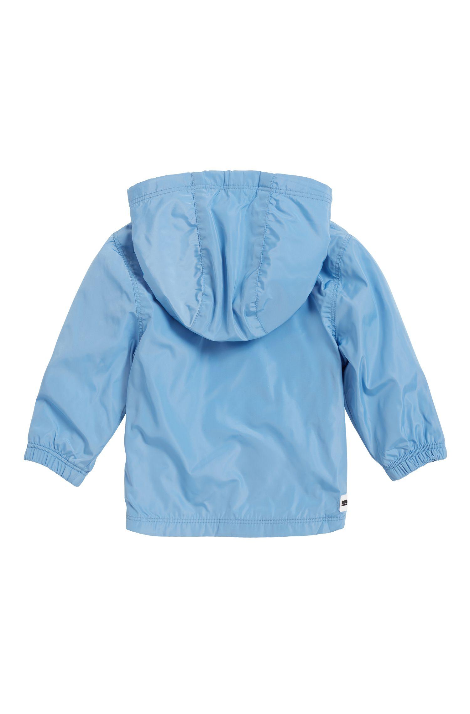 Cazadora cortavientos con forro de punto de algodón para niños