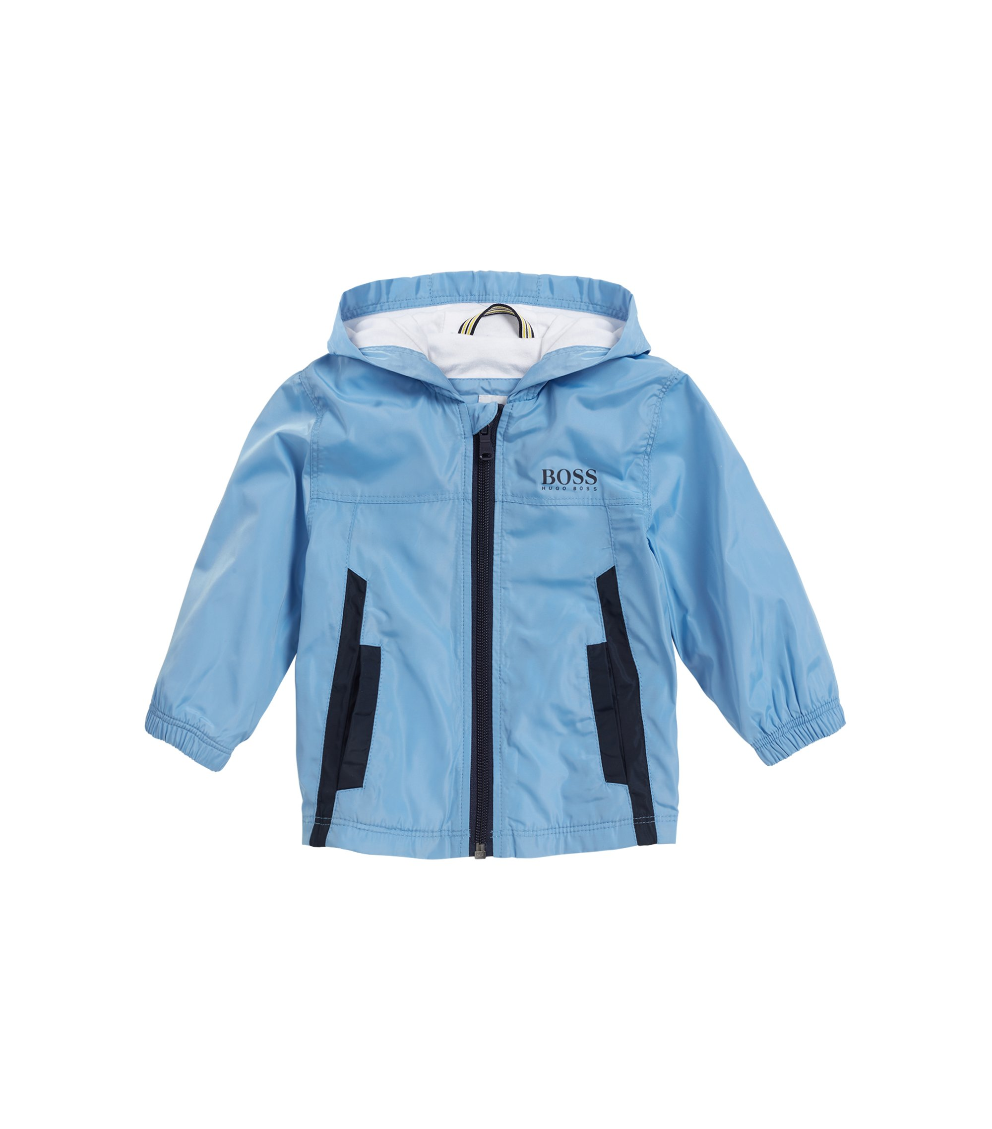 Kids' windbreaker jacket with cotton jersey lining, Turquoise