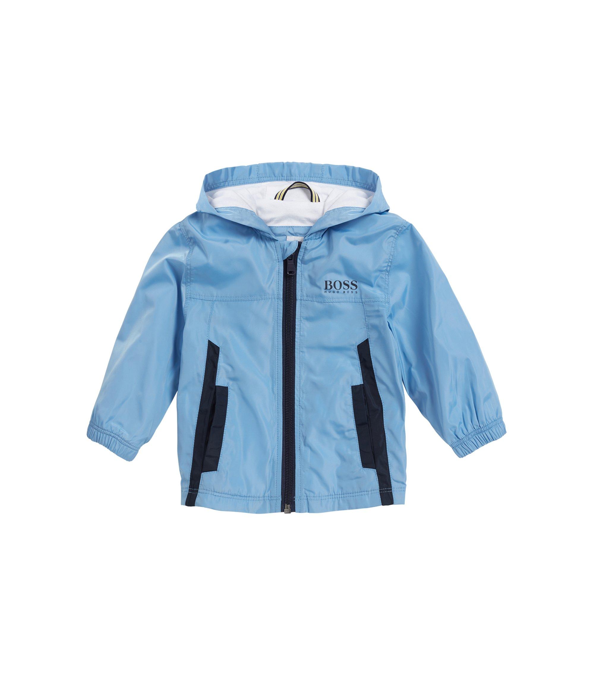 Veste coupe-vent pour enfant avec doublure en jersey de coton, Turquoise
