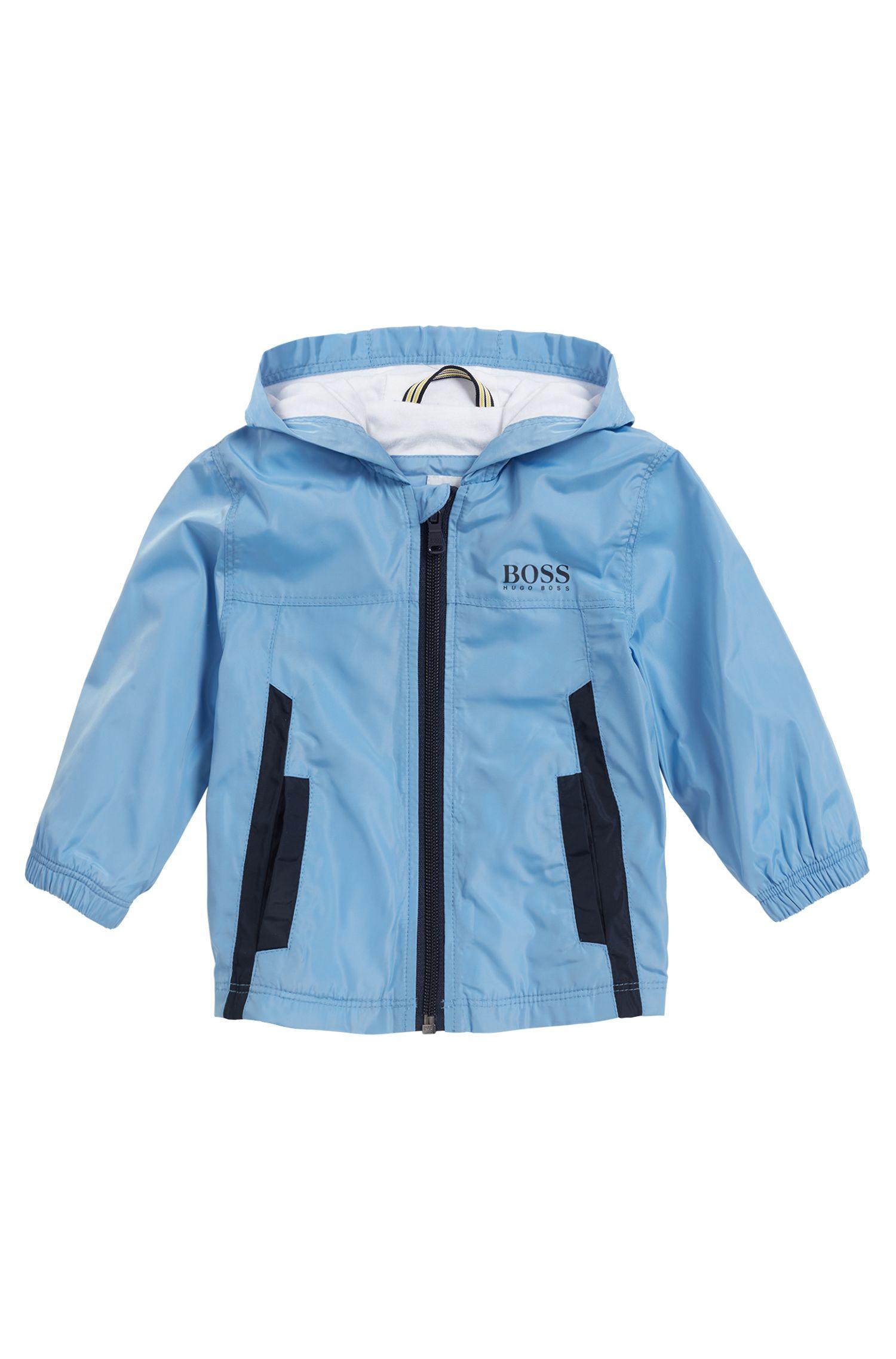 Veste coupe-vent pour enfant avec doublure en jersey de coton