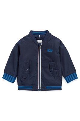 Veste déperlante pour enfant avec garnissage PrimaLoft®, Bleu foncé