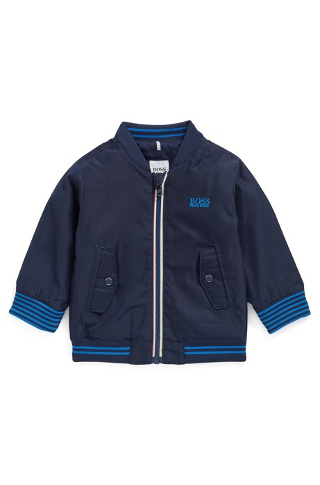 Kids' water-repellent jacket with PrimaLoft® padding, Dark Blue