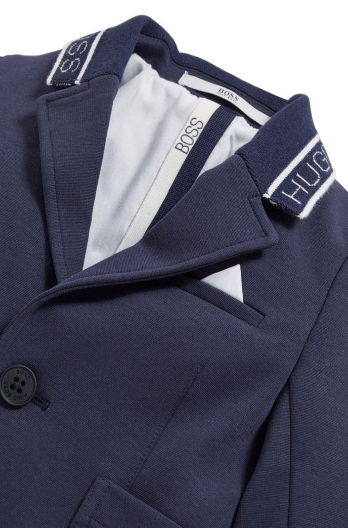 Veste pour enfant en coton mélangé avec col logo