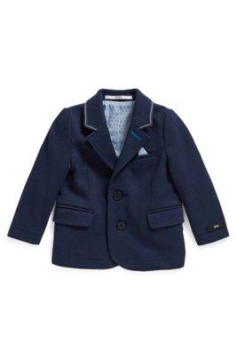 Veste pour enfant en jersey Milano avec carré de poche assorti, Bleu foncé