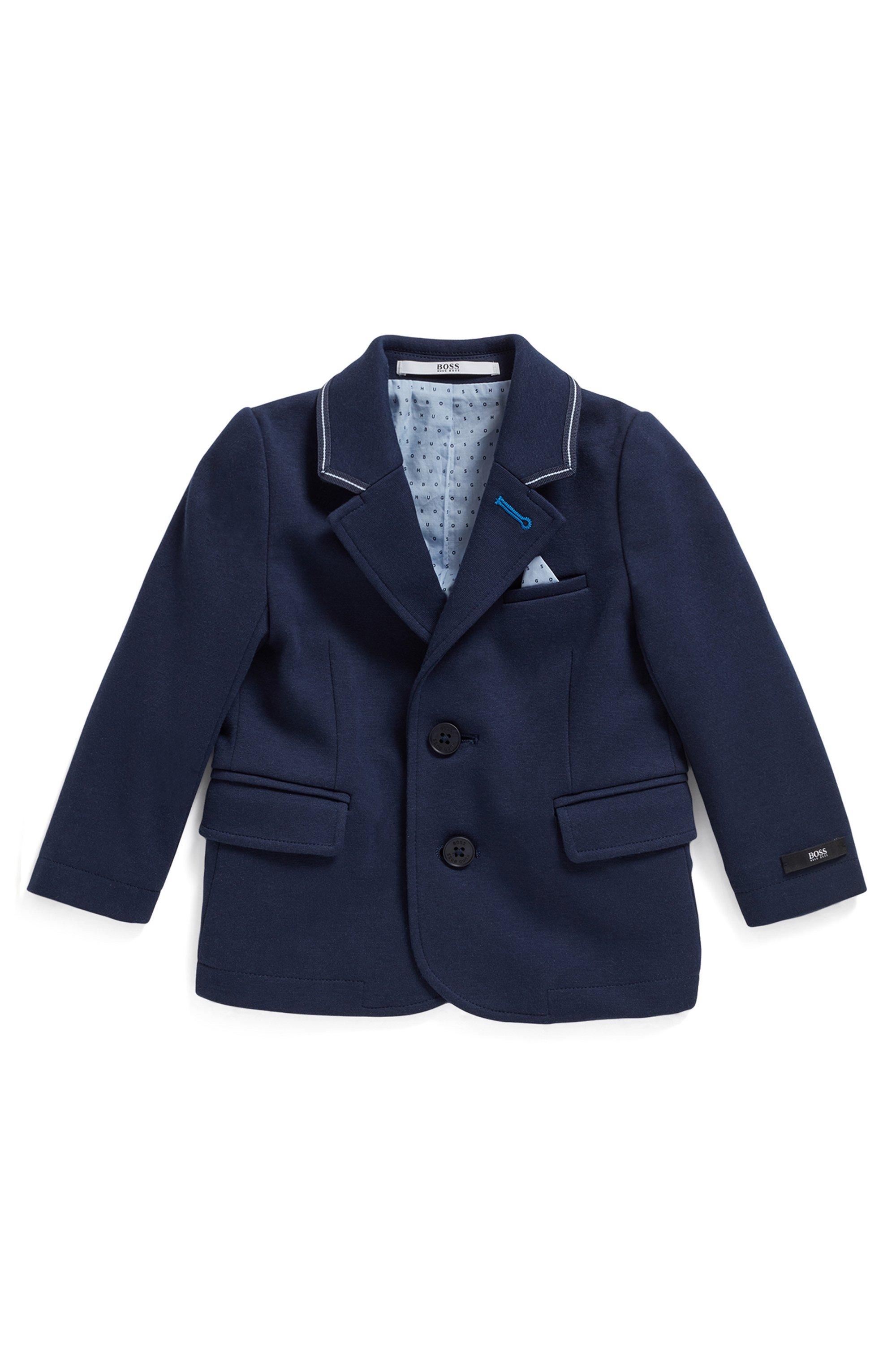 Kindercolbert van Milano-jersey met bijpassende pochet, Donkerblauw