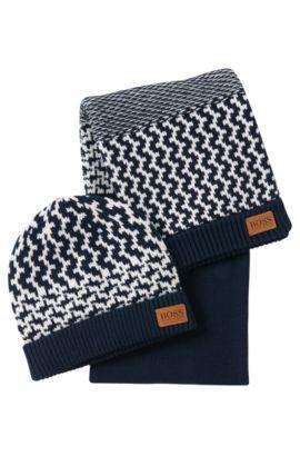 Kinderset met muts en sjaal: 'J08014', Donkerblauw