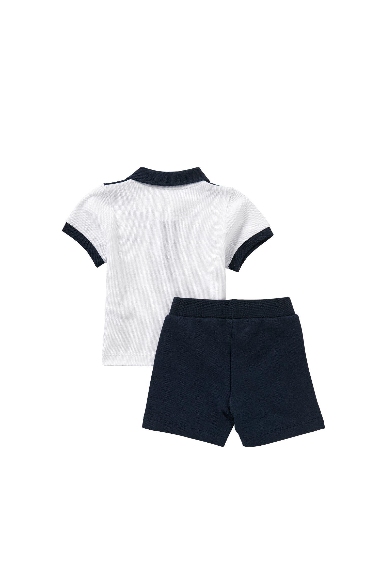 Baby-Set aus Poloshirt und Sweatshorts: 'J08016'