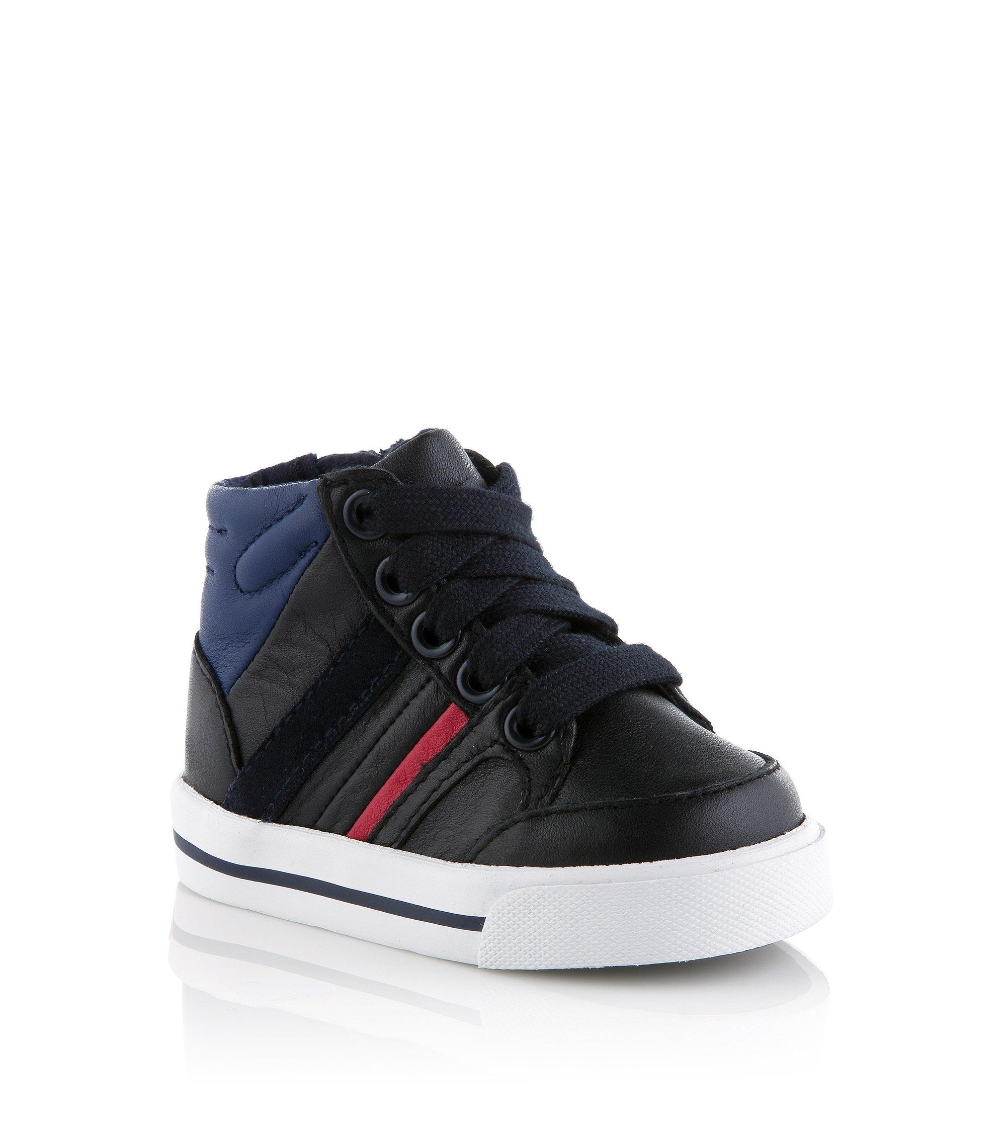 Baby-Sneaker ´J09061` aus Leder, Dunkelblau