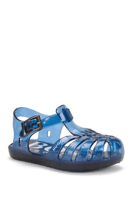 Chaussures de bain pour bébé avec semelle intérieure imprimée: «J09079», Bleu foncé