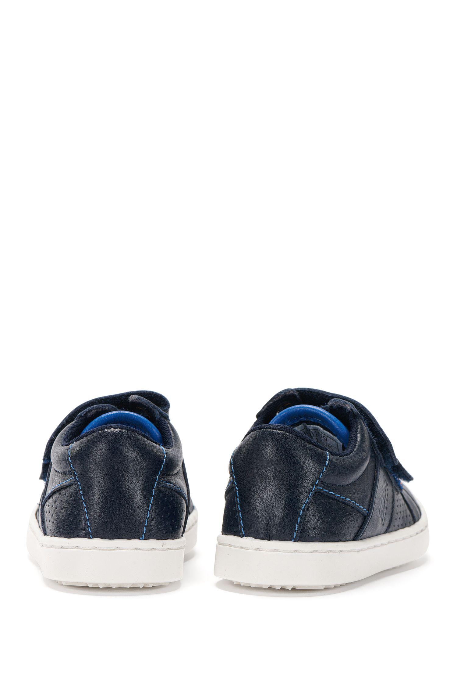 Baby-Schuhe aus Leder mit Kontrastsohle: 'J09081'