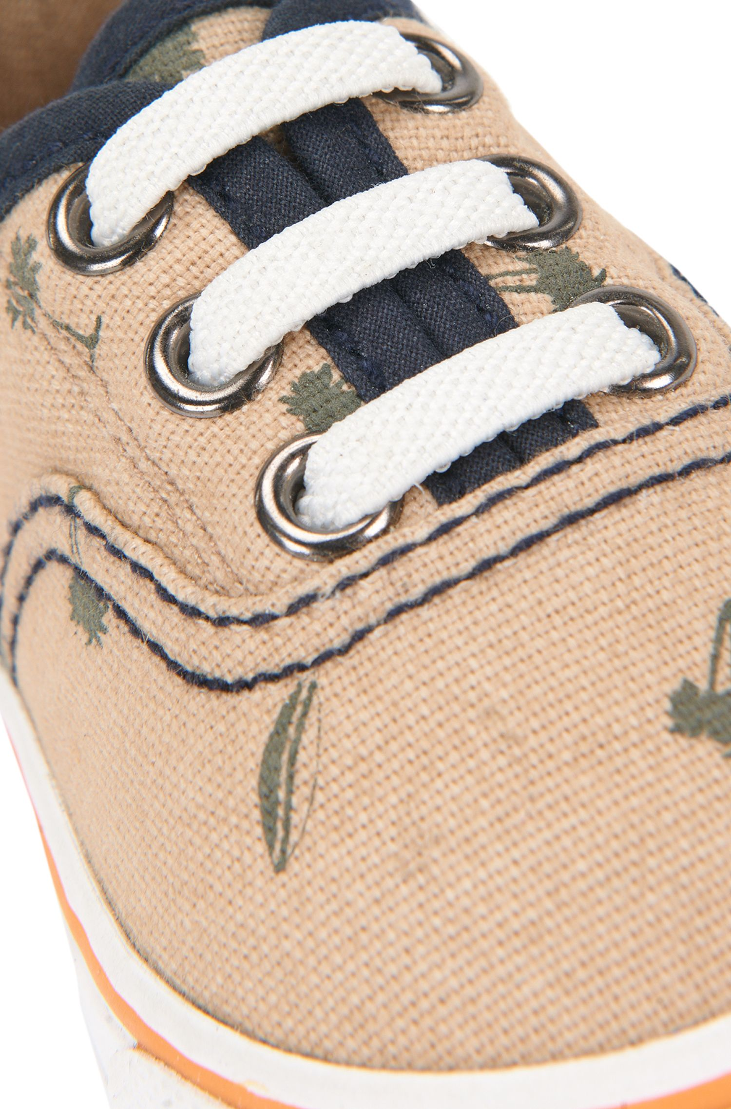 Newborn's trainers in cotton with print: 'J09083'