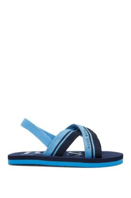 Sandales pour enfant avec bande élastique: «J09088», Turquoise