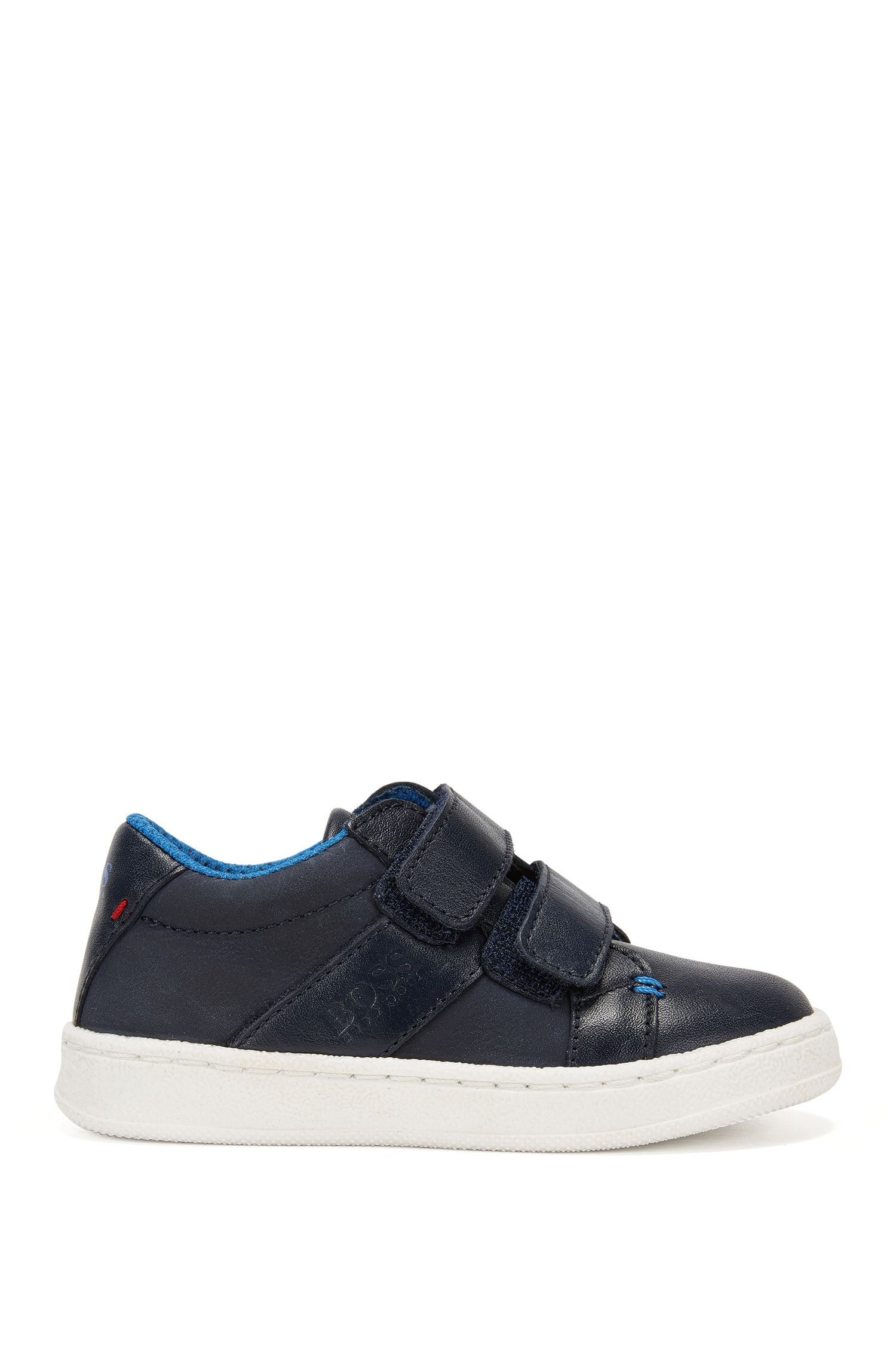 Kids' leather trainers with touch closure: 'J09089'