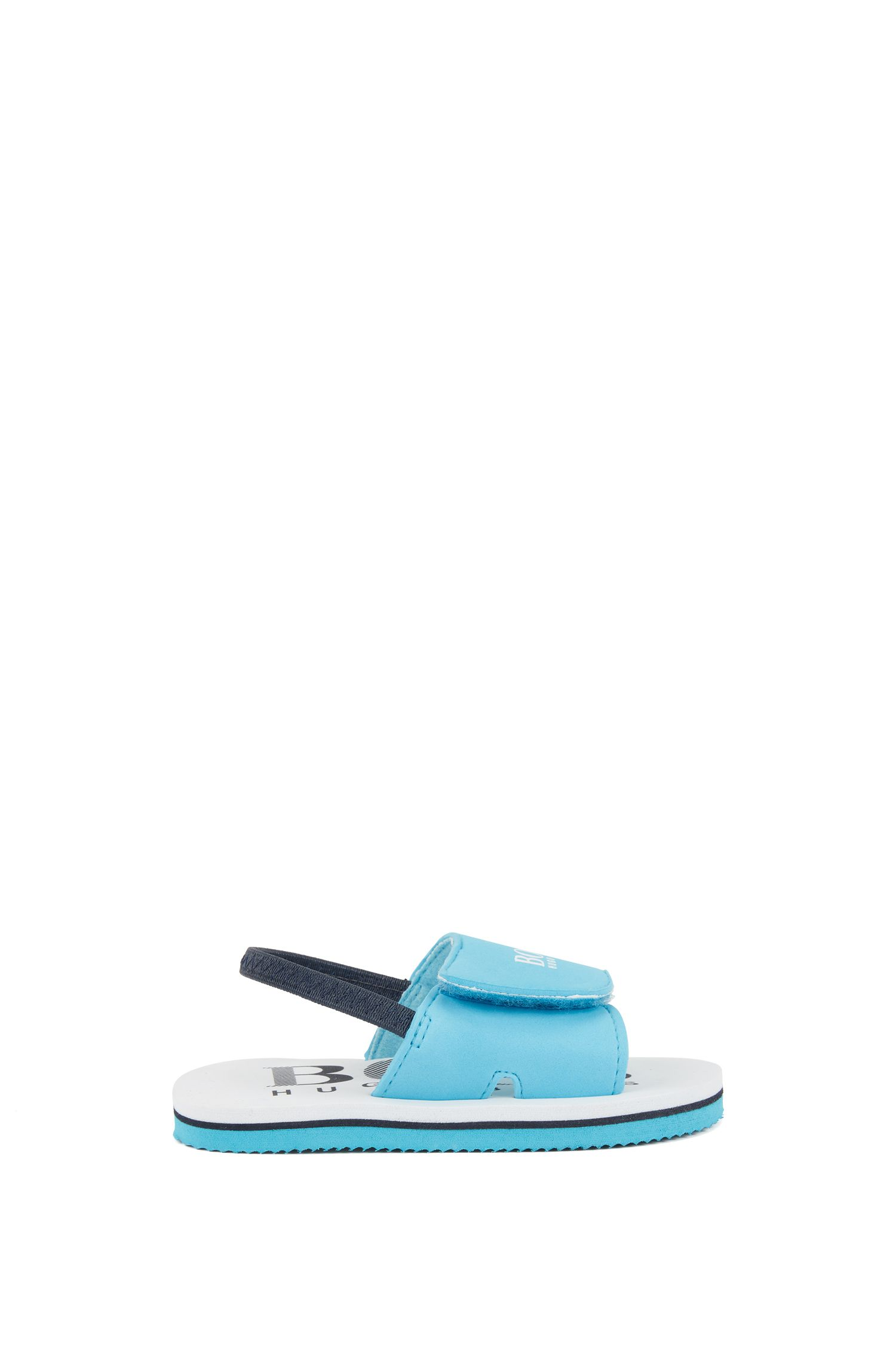 Kids' logo-print sandals with touch fastening
