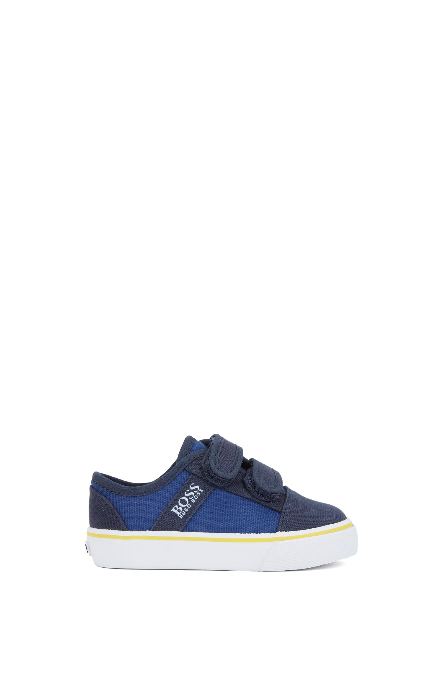 Kids' canvas trainers with touch-fastening straps