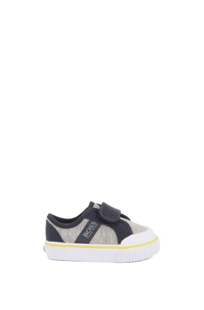 Kids-Sneakers aus Baumwoll-Canvas mit Klettverschluss