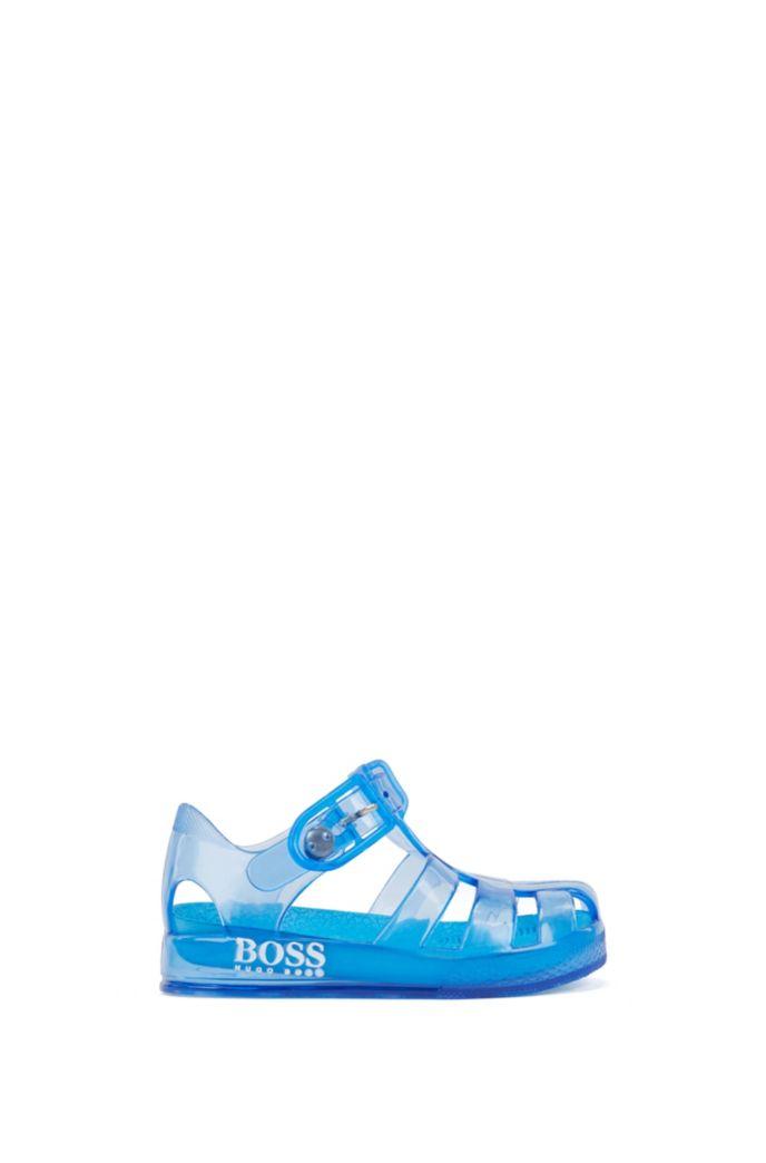Sandales en plastique pour enfant à logo imprimé