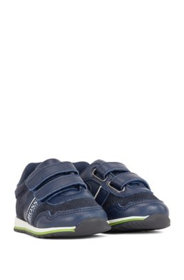 Kids' low-top trainers with touch-closure straps, Dark Blue