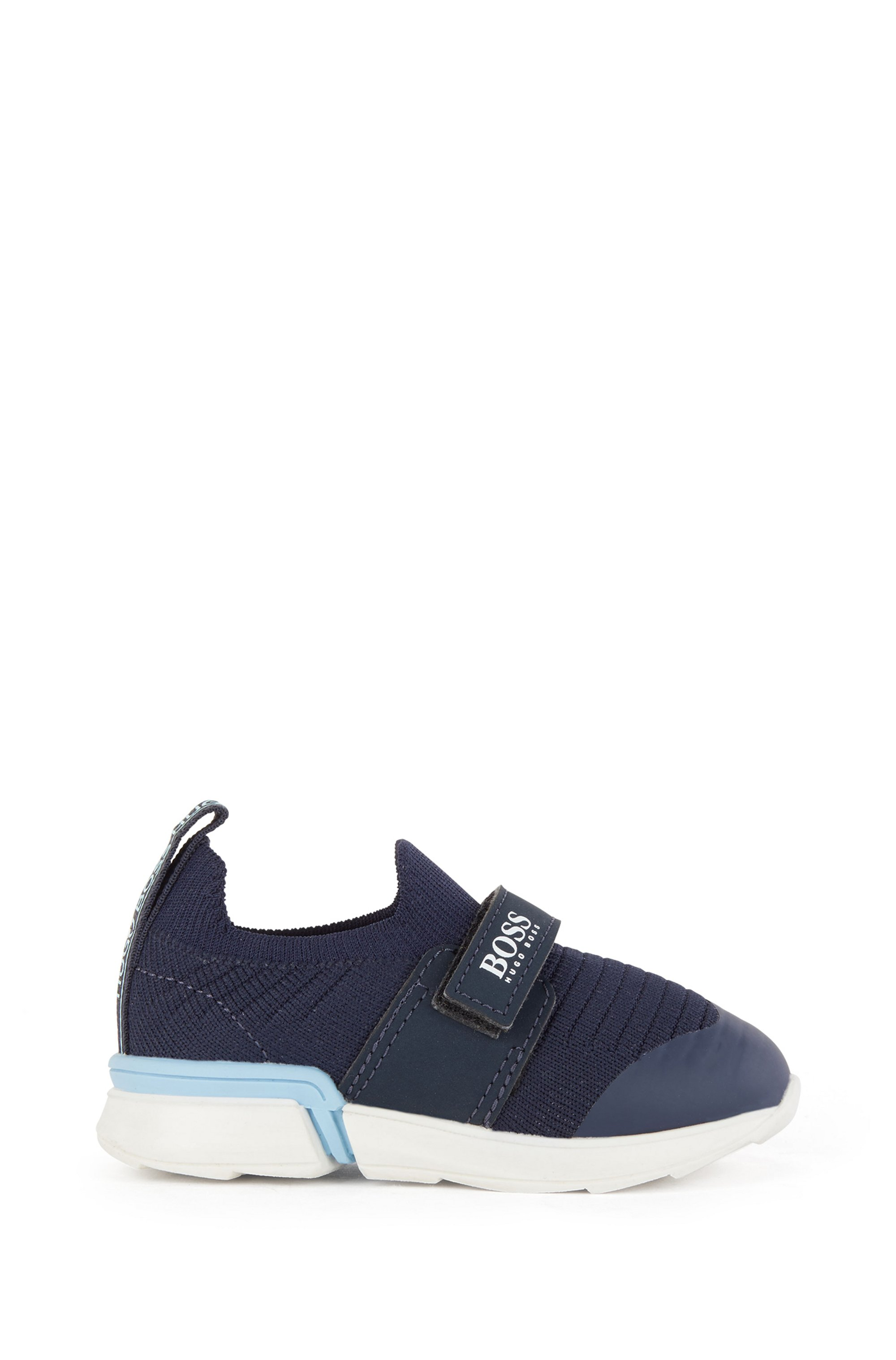 Kids' sock trainers with logo strap