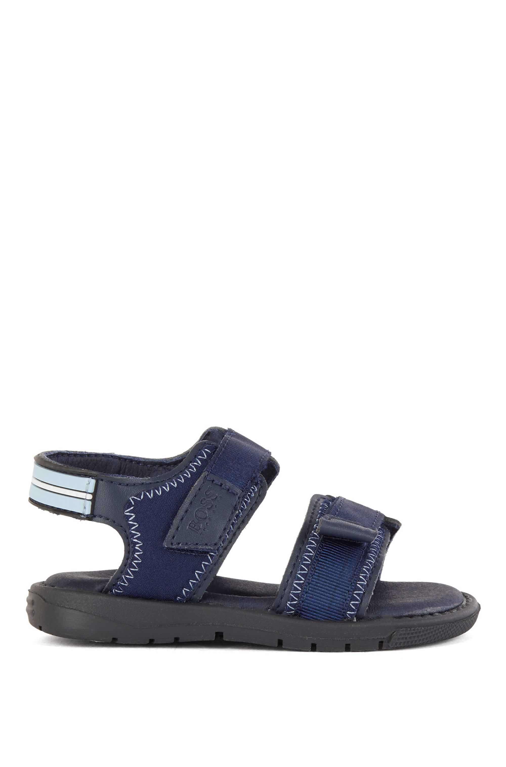 Kids' two-tone sandals with logo strap