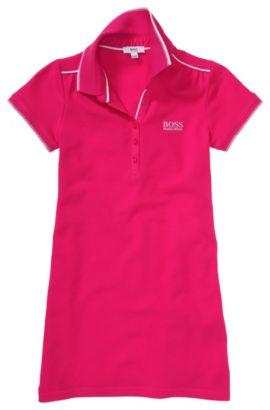 Kids-Polo-Kleid ´J12120` aus Baumwoll-Mix, Dunkelrosa