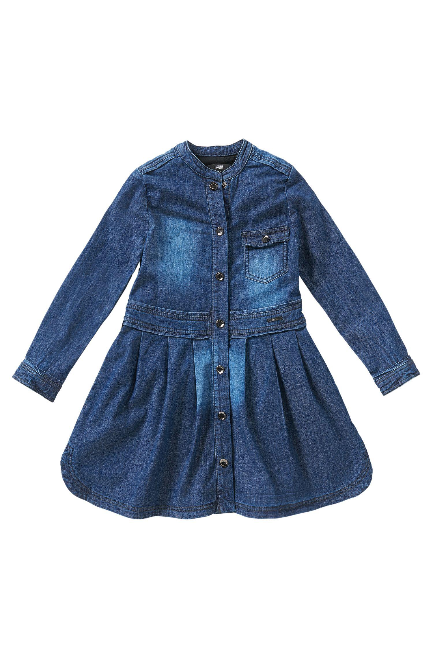 Robe en jeans en coton extensible pour enfants: «J12127»
