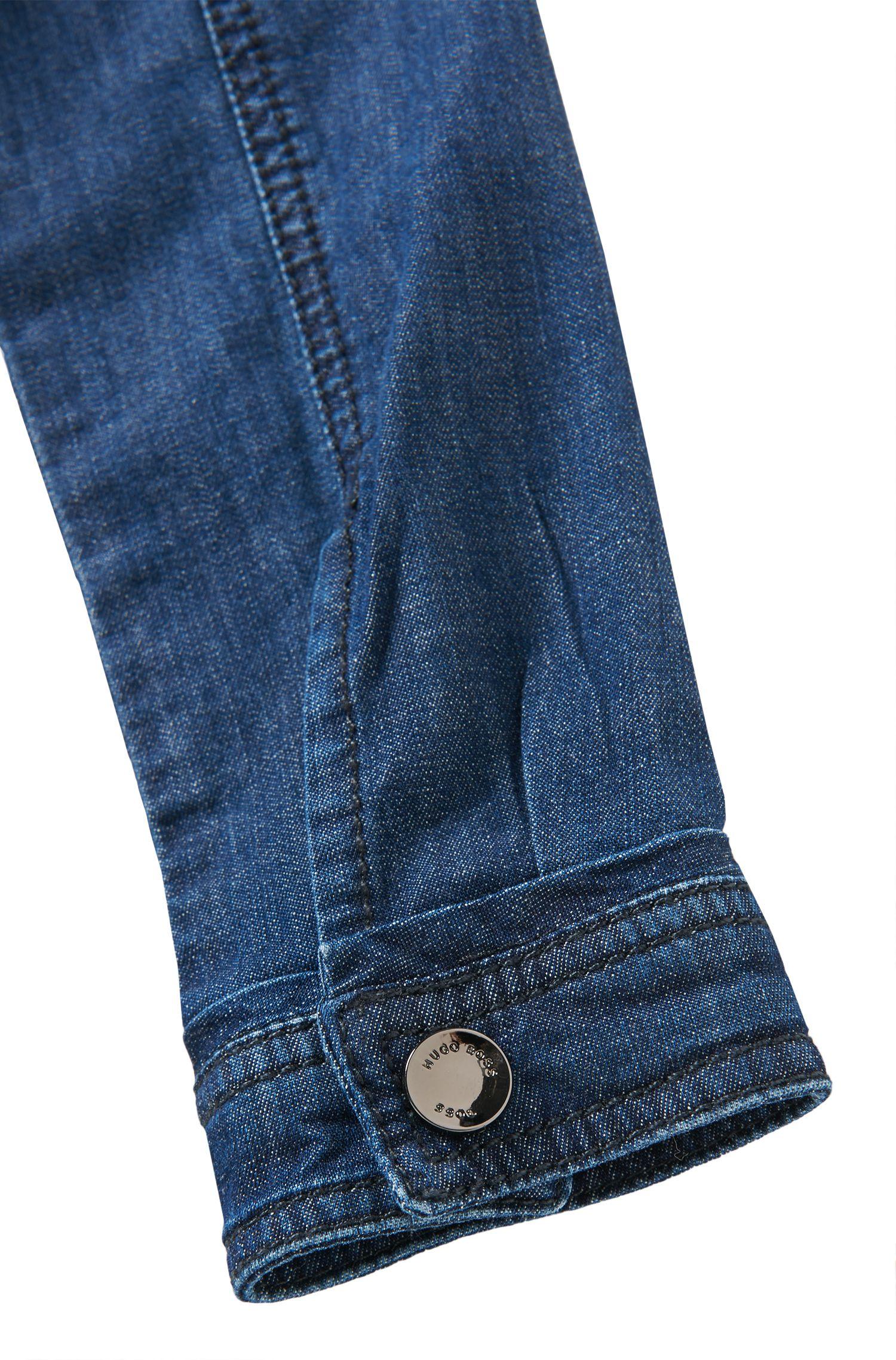 Robe en jeans en coton extensible pour enfants: «J12127», Fantaisie