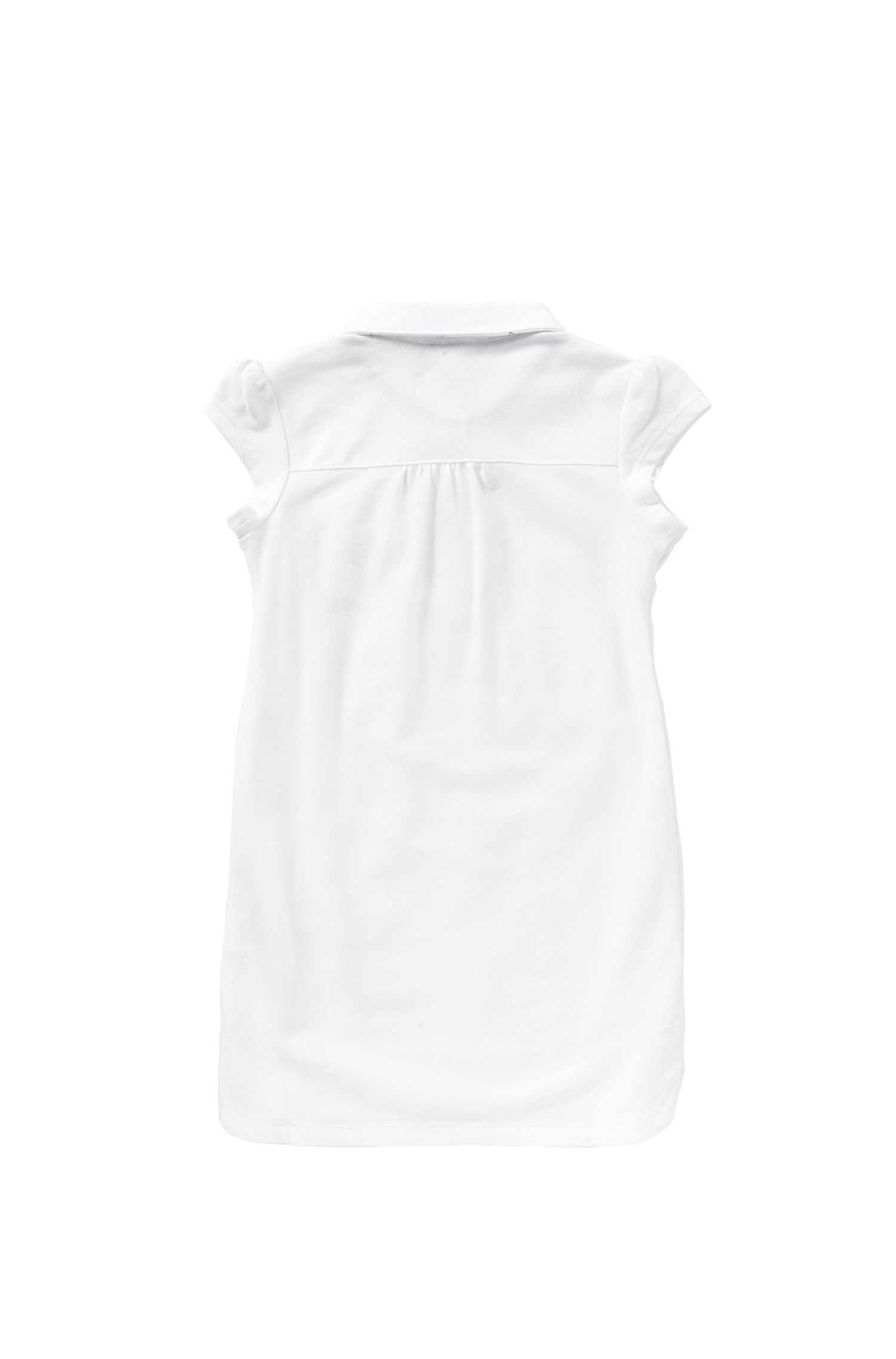 Kids' dress in stretch cotton in polo style: 'J12143'