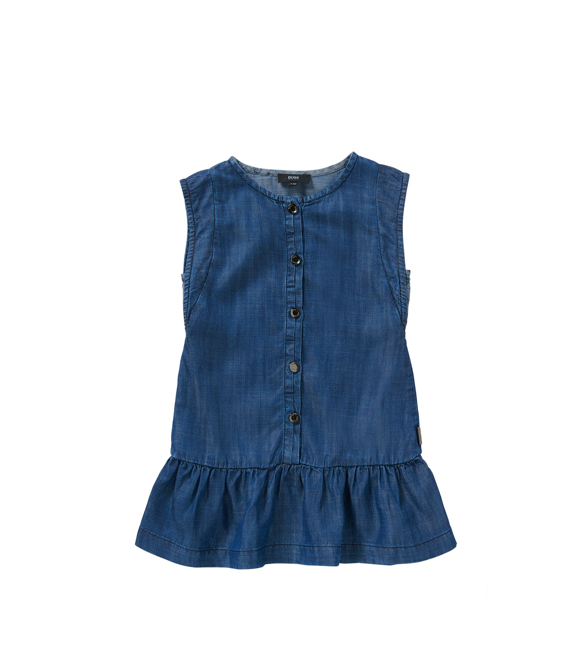 Abito in look denim per bambine: 'J12149', Blu scuro