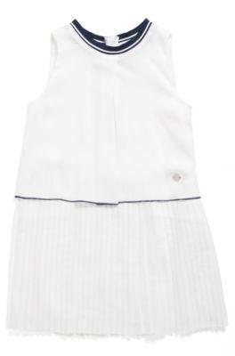 Robe Jupe Manches Pour Fille Avec Plissée Sans N8wPkXn0O